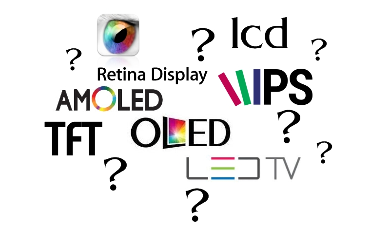 LCD vs TFT vs LED vs OLED vs AMOLED vs IPS vs RETINA vs etc.